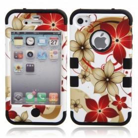 NedRo - Hawaiian Flower Background Protective Case for iPhone 4/4S Black WW87010948 - iPhone huse telefon - WW87010948 www.Ne...