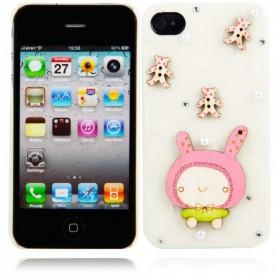 NedRo - Cartoon Doll Style Protective Hard Back Cover Case for iPhone 4/4S Milky WW87008230 - iPhone huse telefon - WW8700823...