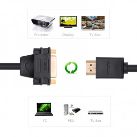 UGREEN, DVI (24+5) Female naar HDMI Male Adapter Kabel UG058, HDMI adapters, UG058, EtronixCenter.com