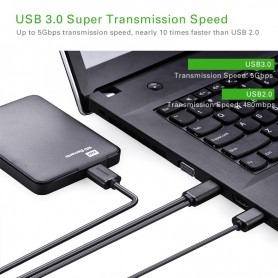 UGREEN, USB 3.0 A Male to Micro B Male Cable + charging, USB 3.0 kabels, UG060-CB, EtronixCenter.com