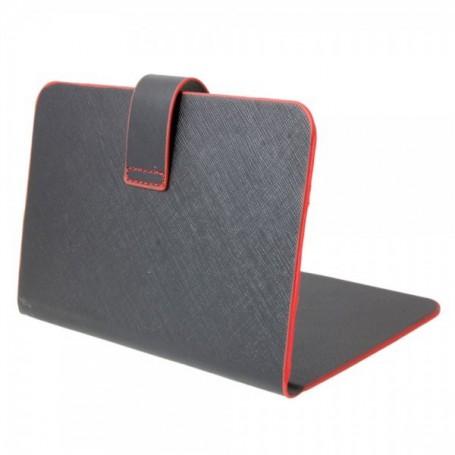 """NedRo, 7"""" tablet leder beschermhoes book style zwart en rood TM339, iPad en Tablets beschermhoezen, TM339, EtronixCenter.com"""
