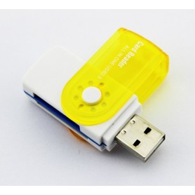 NedRo, Card Reader Adapter 4 in 1 USB2.0 M2 SD SDHC SD TF, SD and USB Memory, AL285-CB, EtronixCenter.com