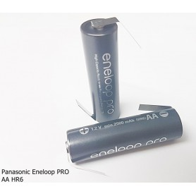 Panasonic - Eneloop PRO AA HR6 Reincarcabile cu Urechi de lipire in Z - Format AA - NK124-C www.NedRo.ro