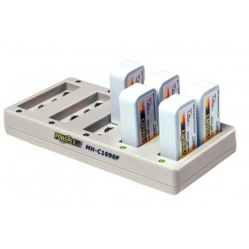 POWEREX, Maha Powerex MH-C1090F 9V Batterijlader, Batterijladers, MH-C1090F, EtronixCenter.com