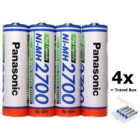 Panasonic, AA 2700mAh baterii reincarcabile capacitate inalta, Format AA, NK130-CB, EtronixCenter.com