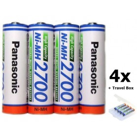 Panasonic - AA 2700mAh Panasonic Rechargeable Battery - Size AA - NK130-CB www.NedRo.us
