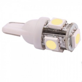 2 Pieces T10 5 SMD LED Car License Plate Light Bulbs