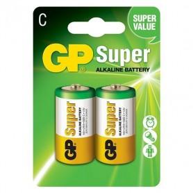 GP, GP LR14 R14 C-Cell Super Alkaline wegwerpbatterij, C D 4.5V XL formaat, BS100-CB, EtronixCenter.com