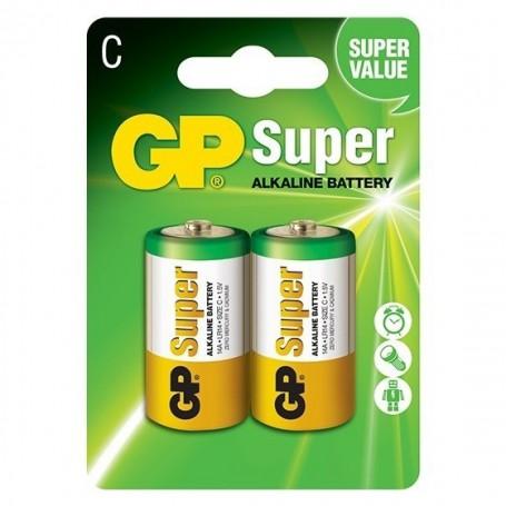 GP, GP LR14 R14 C-Cell Super Alkaline single use battery, Size C D 4.5V XL, BS100-CB, EtronixCenter.com