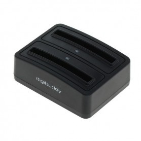 OTB, Dual Battery Chargingdock 1302 for Samsung B500AE ON3410, Incarcator AC, ON3410, EtronixCenter.com