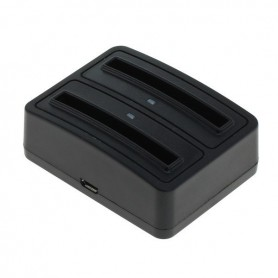 OTB - Dual Battery Chargingdock 1302 voor Samsung B500AE ON3410 - Thuislader - ON3410-C www.NedRo.nl