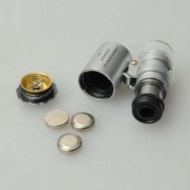 NedRo - 8MM 60x Zoom microscoop loep loeplens - Loepen en Microscopen - AL987-C www.NedRo.nl