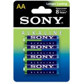 4-Pack Sony Blue Alkaline LR6 AA