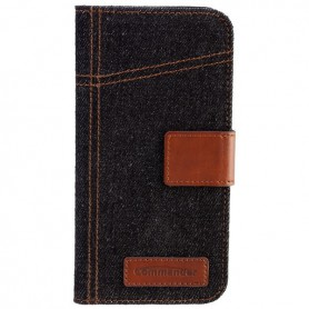 Commander - Commander Book Case Elite Jeans voor Apple iPhone 6 - iPhone telefoonhoesjes - ON3551-C www.NedRo.nl