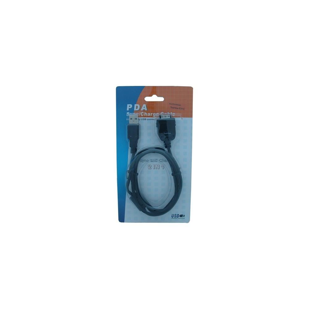 NedRo - Kabel voor PDA USB Hotsync Toshiba E310 E330 E335 E355 E570, E740, E750, E755 P055 - PDA datakabels - P055 www.NedRo.nl