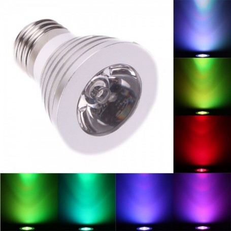 unbranded, E27 4W 16 Color Dimmable LED Bulb with Remote Control, E27 LED, AL131-CB