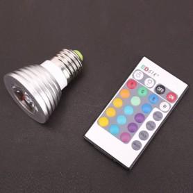 NedRo - Spot LED E27 4W 16 culori cu reglare si telecomanda - E27 LED - AL131-CB www.NedRo.ro