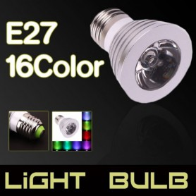 NedRo, E27 4W 16 Color Dimmable LED Bulb with Remote Control, E27 LED, AL131-CB, EtronixCenter.com