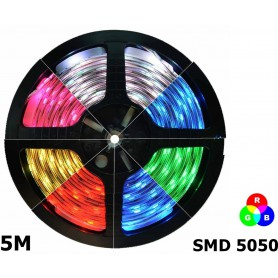 NedRo - IP20 RGB LED Strip SMD5050 60led p/m - LED Strips - AL968-5M www.NedRo.us