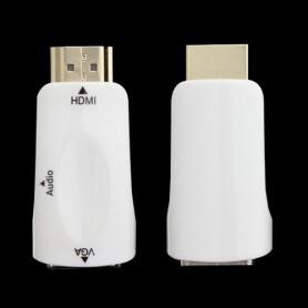 NedRo, HDMI naar VGA + audio omvormer converter adapter, HDMI adapters, AL969-CB, EtronixCenter.com