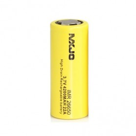 MXJO - MXJO IMR26650F 4200mAh 22A Unprotected - Size C D and XL - NK136 www.NedRo.us