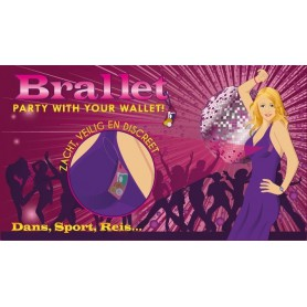 Bye Bra - Brallet Pink party, key, license, credit card cash holder 9132 - Brallet - 9132 www.NedRo.us