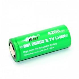 Efest - Efest IMR26650 Green 4200mAh 20A 3.7V onbeschermd - C D en XL formaat - NK140-1x www.NedRo.nl