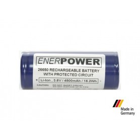 Enerpower - Enerpower 26650 4700mAh 14.1A Protected - Size C D and XL - NK142 www.NedRo.us