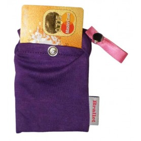 Bye Bra, Brallet Mon cherie purple, key, license, credit card cash holder 9133, Brallet, 9133