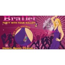Bye Bra, Brallet Mon cherie paars, sleutel, rijbewijs, credit card geld houder 9133, Brallet, 9133, EtronixCenter.com