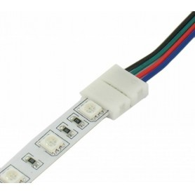 NedRo - 10mm 4 Pin RGB Connector Cable Wire (5pcs) - LED connectors - LSCC28 www.NedRo.us