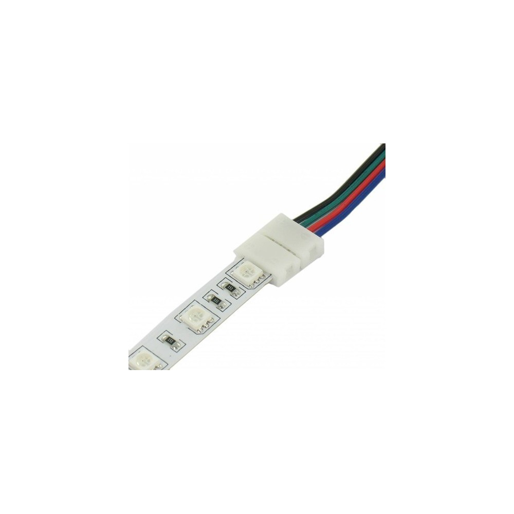 NedRo - RGB Click Connector 1 side Wired voor LED Strips 06024 - LED connectors - 06024 www.NedRo.nl