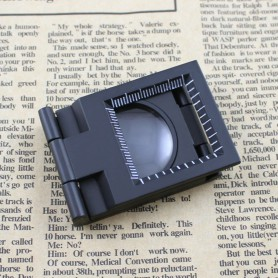 NedRo - Metal Fold Texture Magnifier 10X Zoom - Magnifiers microscopes - AL268 www.NedRo.us