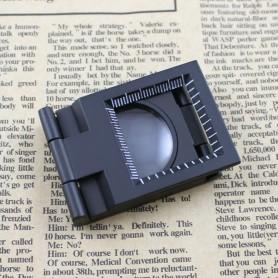 NedRo - Metalen opvouwbaar dradenteller opzetloep 10X zoom - Loepen en Microscopen - AL268 www.NedRo.nl