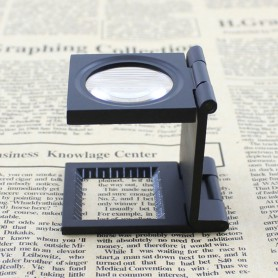 Oem - Metal Fold Texture Magnifier 10X Zoom - Magnifiers microscopes - AL268