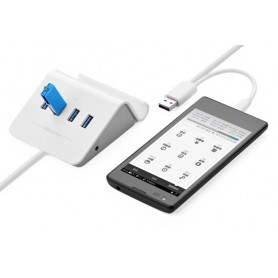 UGREEN, 4 Ports USB 3.0 OTG HUB with Cradle White UG096, Ports en Hubs, UG096, EtronixCenter.com