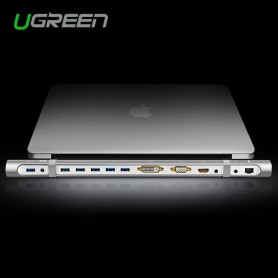 UGREEN - All-in-1 Docking Station USB 3.0 HDMI DVI VGA Ethernet UG098 - Accesorii diverse laptop - UG098 www.NedRo.ro