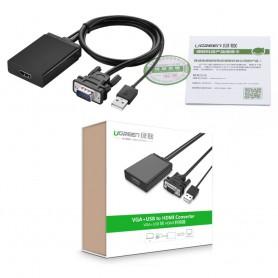UGREEN - VGA+USB to HDMI Converter Adapter - HDMI adapters - UG101 www.NedRo.nl