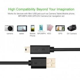 UGREEN - Cablu USB 2.0 A Tata la Mini-USB 5 Pin Tata - Cabluri USB la Mini USB - UG116-CB www.NedRo.ro