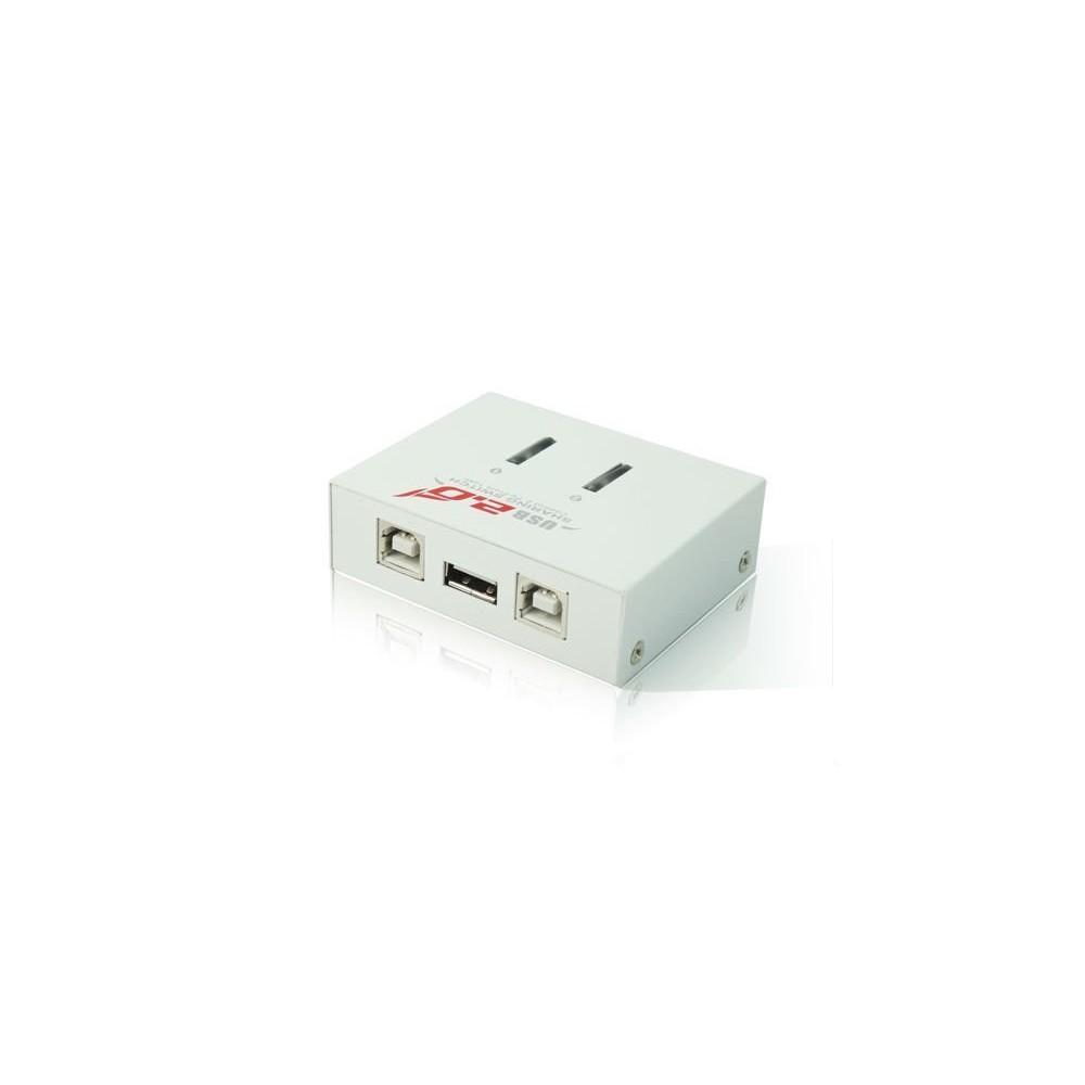 NedRo - USB A naar 2x USB B Sharing Switch YPU502 - Ports en Hubs - YPU502 www.NedRo.nl