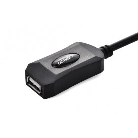 UGREEN, USB 2.0 Active Extension Cable with USB for power, USB naar USB kabels, UG123-CB, EtronixCenter.com
