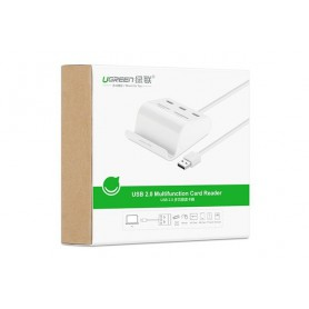 UGREEN, 3-Port USB 3.0 Hub with Card Reader and Cradle UG127, Ports en Hubs, UG127, EtronixCenter.com