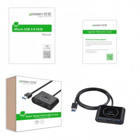 UGREEN, USB 3.0 HUB 4 port, Ports and hubs, UG130-CB, EtronixCenter.com