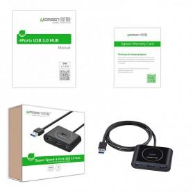 UGREEN - USB 3.0 HUB 4 port - Porturi si huburi - UG130 www.NedRo.ro