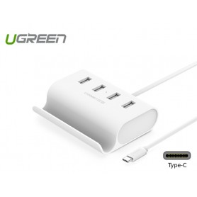UGREEN - USB-C Type C 4 Ports High Speed HUB with 0.5 m Cable UG135 - Ports en Hubs - UG135 www.NedRo.nl