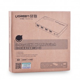 UGREEN, 3 Port HDMI Switch Switcher 1-In 3-Out Port, HDMI adaptoare, UG149-CB, EtronixCenter.com