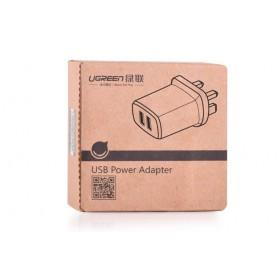 UGREEN - 2.4A / 1A 17W 5V USB Dual Wall Charger UK Plug Black UG154 - Ac charger - UG154