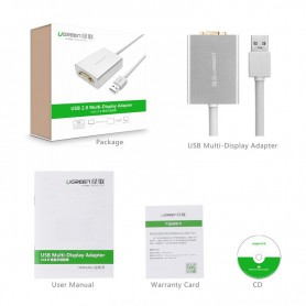 UGREEN - USB 2.0 to VGA Multi-Display Adapter High Premium UG157 - DVI and DisplayPort adapters - UG157 www.NedRo.us