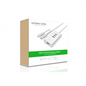 UGREEN - USB 3.0 to HDMI +3 port USB 3.0 Multi-Display Adapter UG160 - USB adapters - UG160 www.NedRo.nl