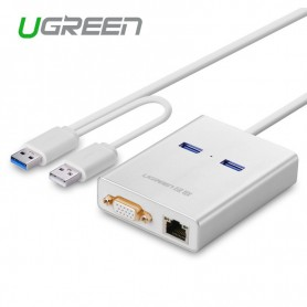 UGREEN - USB 3.0 Multi-Display Graphic Card 1000 Gigabit Ethernet UG161 - Netwerk adapters - UG161 www.NedRo.nl